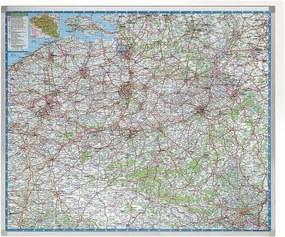 Wegenkaart België - Beschrijfbaar en Magnetisch