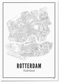 WIJCK. Rotterdam Stad print