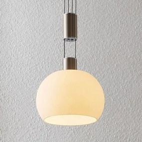 Aurell LED hanglamp, glas, 1-lamp, nikkel - lampen-24