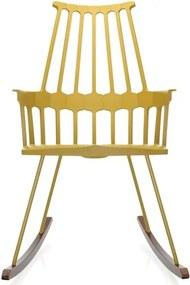 Kartell Comback Rocking schommelstoel geel