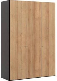 Goossens Kledingkast Easy Storage Ddk, Kledingkast 153 cm breed, 220 cm hoog, 3x draaideur