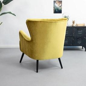 Eleonora Fauteuil 'Daisy Velvet' kleur geel