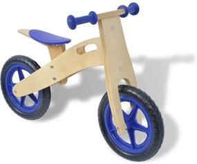 Loopfiets hout blauw