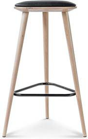 Finn barkruk - Hout - 75 cm hoog - Whitewash