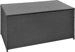 Tuinbox 120x50x60 cm poly rattan zwart