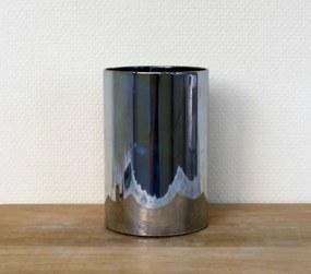 Kaars in glas grijs 10 x 15 cm
