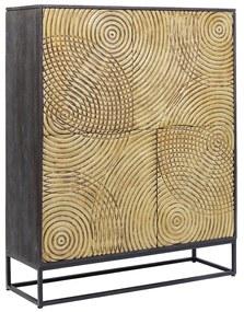 Kare Design Circulo Gouden Wandkast Snijwerk - 120x40x150cm.