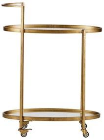 BePureHome Brass Push Trolley Metaal Antique - 67 X 35cm.
