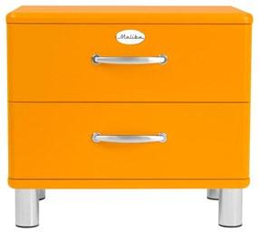 Tenzo Malibu Houten Nachtkastje Oranje - 60x41x54cm.