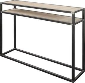 Spinder Design Diva Metalen Sidetable Met Eiken Blacksmith - 120 X 30cm.