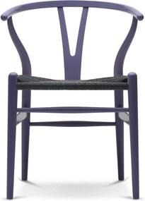 Carl Hansen & Son CH24 Wishbone Stoel Colours Black Purple Blue