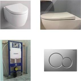 Icon toiletset met UP320 reservoir/bedieningsplaat mat-chroom