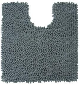 Toiletmat Differnz Chenille Shaggy Antislip 60x60 cm Microfiber Grijs