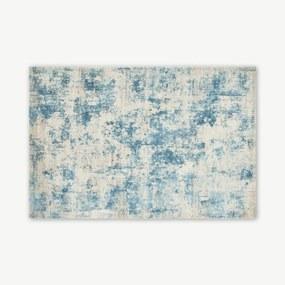 Epicoco luxe vloerkleed van viscose, groot, 160 x 230cm, leisteenblauw
