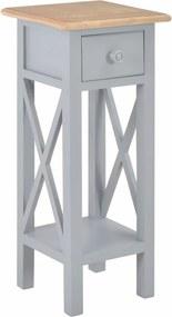 Bijzettafel 27x27x65,5 cm hout grijs