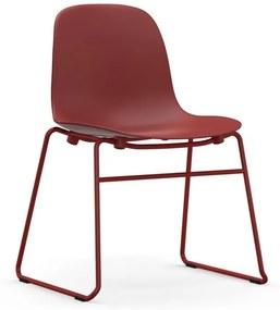 Normann Copenhagen Form Chair Stapelbare Stoel Met Gelakt Onderstel Rood