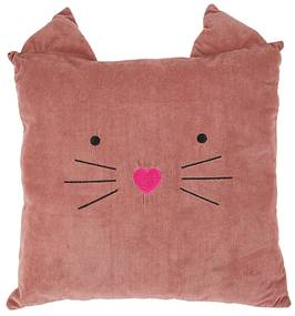 Kussen kat - roze - 38x38 cm