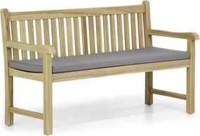 Garden Collections Preston tuinbank teak 150 cm incl. antraciet kussen