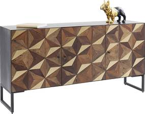 Kare Design Illusion Gold Mozaiek Dressoir - 164x40x85cm.