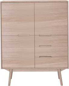 Wood and Vision Curve Highboard opbergkast 3-3 eiken