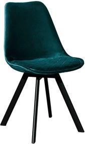Kick Collection | Eetkamerstoel Soof breedte 48 cm x diepte 53 cm x hoogte 84 cm blauw, zwart eetkamerstoelen metaal, velvet | NADUVI outlet