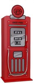Vipack kledingkast Benzinepomp - rood - 147,8x45x50 cm - Leen Bakker