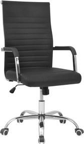 Bureaustoel zwart 55x63 cm kunstleer
