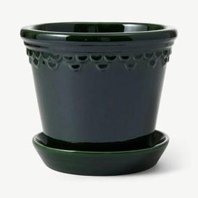 Bergs Potter bloempot, 18 cm, smaragdgroen
