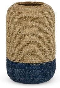 Soller ronde hoge mand van zeegras, blauw