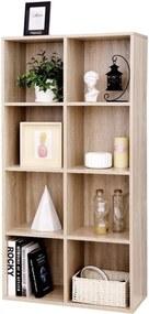 Nancy's Boekenkast Met 8 vakken - Planken Van Hout - Vrijstaande Kast – Opberger Voor Kantoor Of Thuis – Houten Kast