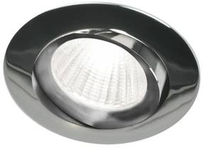 Piato inbouw LED spot 70 mm rond chroom