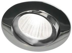 Piato inbouw LED spot 70 mm rond chroom