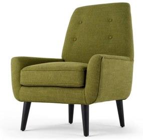 Imogen accent stoel, olijfgroen tonale stof