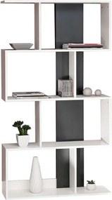 Symbiosis boekenkast Eidal - wit/zwart - 165x89x25 cm - Leen Bakker