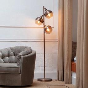 BePureHome Split Bruine Vloerlamp Met 3 Bollen