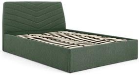 Lex kingsize bed met opbergruimte, groen