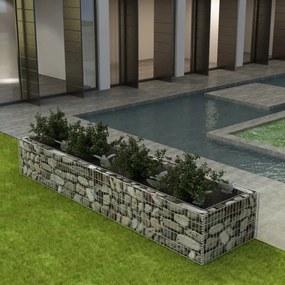 Gabion plantenbak 360x90x50 cm staal