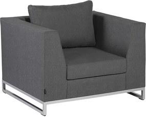 Rhodos lounge tuinstoel - stone grey (donker grijs)