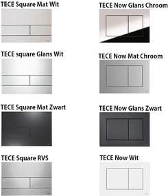 Tece Toiletset - Inbouw WC Hangtoilet Wandcloset - Daley Flatline Tece Square Mat Wit