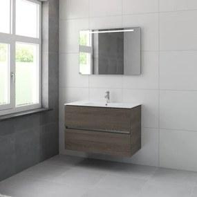 Bruynzeel Miko badmeubelset 101x66x51cm met spiegel orlando eiken 226462k