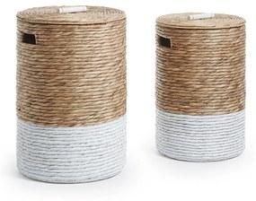 Kave Home Mast Set Van 2 Rieten Wasmanden