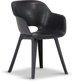 Keter Akola dining chair grafiet grijs