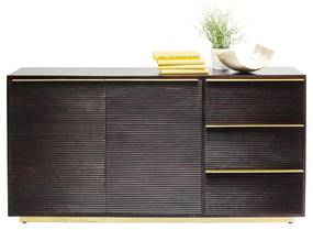 Kare Design Casino Lounge Donker Retro Dressoir - 150x35x76cm.