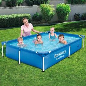 Zwembad met stalen frame 221x150x43 cm 56401