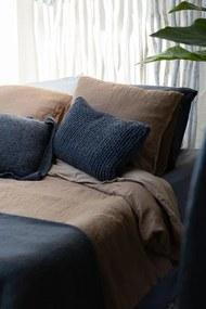 Dekbedovertrek donkergrijs, linnen & katoen, Sofie Extra breed (260-200 cm)