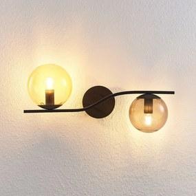 Avalyn wandlamp, meerkleurig, zwart - lampen-24