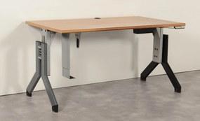 Elektrische hoogte verstelbaar bureau, noten blad, 140 x 80 cm (LET OP dit is geen zit-sta bureau)