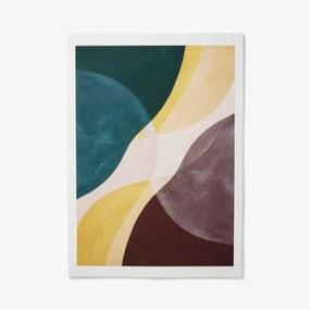 Yellow Flow door Berit Mogensen Lopez, print, 100 x 70 cm