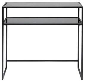 Kare Design Loft Sidetable Van Staal Met Glas - 85 X 30cm.
