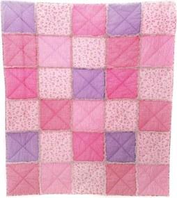 Sprei Meisjes 130 Cm Katoen Roze/paars